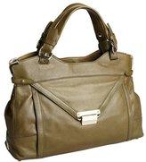 Kooba dark olive expandable flap close 'Kiley' large satchel
