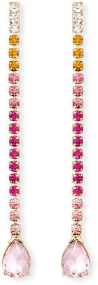 Lulu Frost Fortune Linear Drop Crystal Earrings