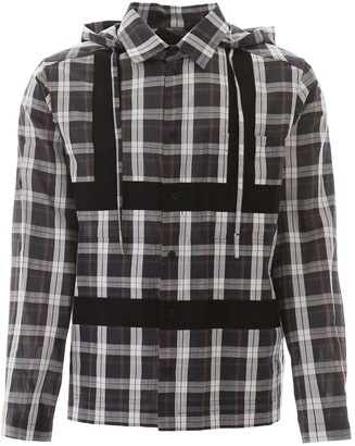 Craig Green Checked Harness Hooded Shirt