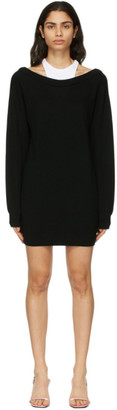 alexanderwang.t Black Merino Bi-Layer Dress