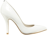 Callaway White Patent Heeled Court Shoes - White