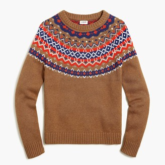 J.Crew Cotton Fair Isle crewneck sweater