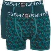 Crosshatch Men's 3 Pack Causeway Boxer Shorts - Ponderosa Pine