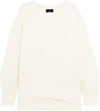 Rag & Bone Athena Ribbed And Open-knit Cashmere Sweater