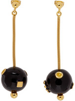 Marni Black and Gold Pendant Earrings