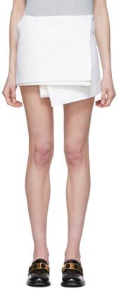 Prada White Boucle Wrap Miniskirt