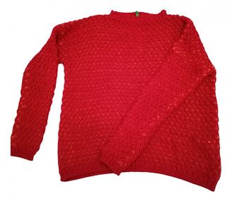 Benetton Red Wool Knitwear