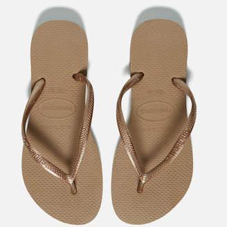 Havaianas Women's Slim Flip Flops - Rose Gold