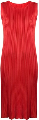 Pleats Please Issey Miyake Pleated Shift Dress