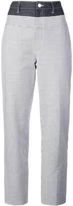 Jason Wu contrast striped trousers