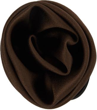 Sophie Buhai Brown Satin Rose Hair Tie