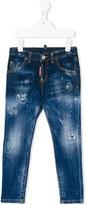 DSQUARED2 distressed slim fit jeans - kids - Cotton/Spandex/Elastane - 4 yrs
