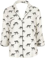 River Island Womens White cheetah print pajama shirt