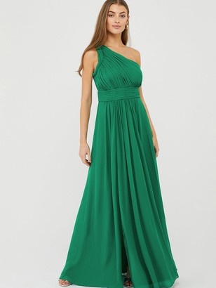 Monsoon Dani One Shoulder Maxi Dress - Green