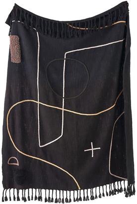 Linen House Exon Throw Black