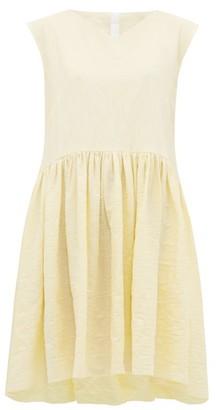 Merlette New York Mercadal Crinkled Cotton-twill Dress - Womens - Light Yellow