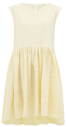Merlette New York Mercadal Tumbled Cotton-blend Dress - Light Yellow