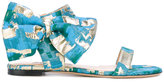 Gianluca Capannolo patterned bow sandals - women - Cotton/Leather/PVC - 37