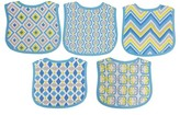 Hamco Neat Solutions Knit Terry Graphic Print Bibs - Boy (5 Pack)