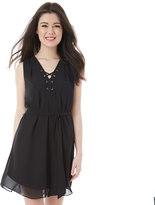 IZ Byer California Juniors' IZ Byer California Solid Lace-Up Dress