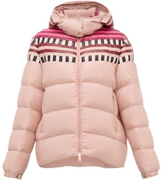 Moncler 1 Pierpaolo Piccioli - Evelyn Colour-block Down-filled Hooded Jacket - Womens - Light Pink