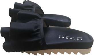 Joshua Sanders Navy Cloth Sandals