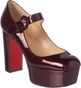 Christian Louboutin Mj Goes High 110 Patent Platform Pump