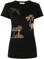 Valentino embroidered tree T-shirt - women - Silk/Cotton/Viscose - XS