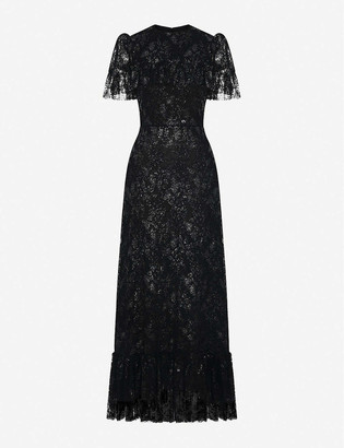 The Vampire's Wife The Bombette metallic-lace maxi dress