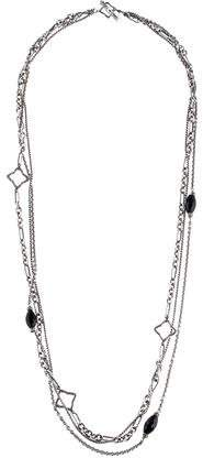 David Yurman Onyx & Diamond Multistrand Necklace