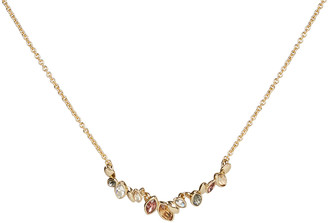 Alexis Bittar Navette Crystal Row Pendant Necklace