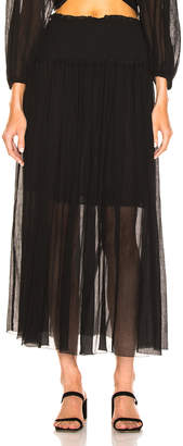 Zimmermann Primrose Crinkle Skirt in Noir | FWRD