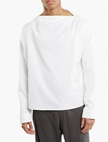 Haider Ackermann White Cotton Boatneck Shirt