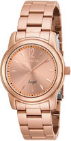 Invicta Angel Womens Rose-Tone Stainless Steel Watch 17421