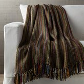 Crate & Barrel Shelby Sage Green Striped Throw