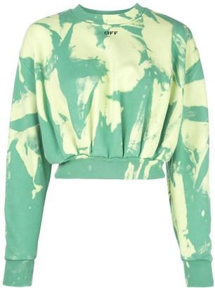 Off-White Tie-Dye Effect Sweatshirt