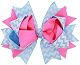 WuyiMC Cute No-Slip Bow Hairpin Headwear Hair Clips Hair Barrettes Accessories for Baby Girls Kids (Hot Pink)