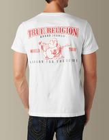 True Religion Mens Horseshoe Double Puff Logo Tee