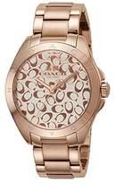 Coach Women's Tristen 36mm Bracelet Watch Chalk/Rose Gold Watch