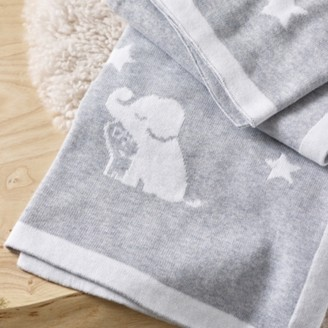 The White Company Kimbo Star Baby Blanket, Grey, One Size