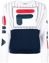 Fila logo front stripe panel sweatshirt