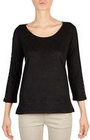 Gerard Darel Terry Lace-Inset Tee