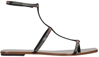 Pedro Garcia Keety Flats In Black Leather