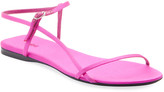 The Row Bare Sandals in Flat Satin