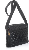 Chanel Quilted leather tassel bag