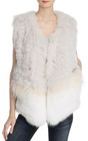 Meteo by Yves Salomon Three Stripe Fur Vest