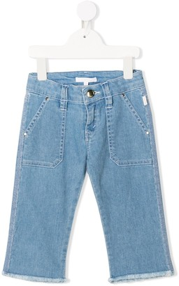 Chloé Kids high rise slim-fit jeans