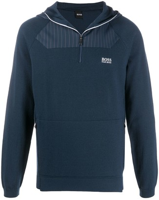 HUGO BOSS Half-Zip Fleece Hoodie