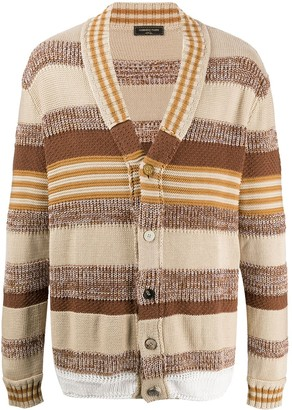 Gabriele Pasini Striped Long-Sleeve Cardigan