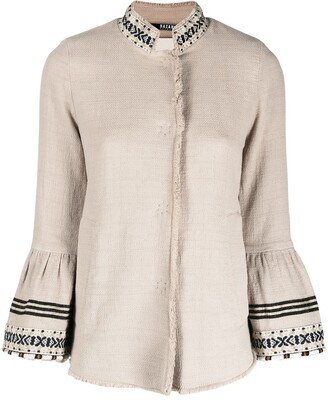Bazar Deluxe Embroidered Flared Sleeves Buttoned Jacket